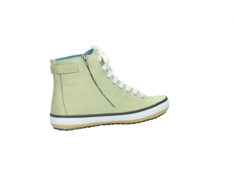 wolky lace up shoes 01225 biker 20700 light green leather_11