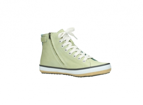wolky lace up shoes 01225 biker 20700 light green leather_15