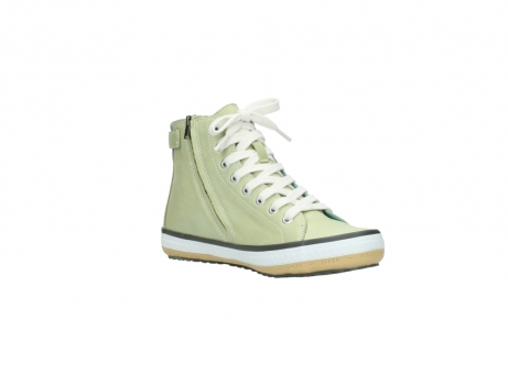 wolky lace up shoes 01225 biker 20700 light green leather_16
