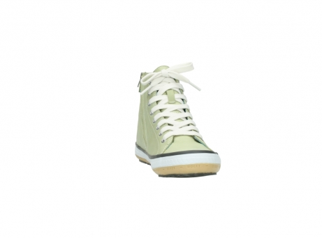 wolky lace up shoes 01225 biker 20700 light green leather_18