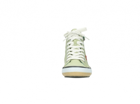 wolky lace up shoes 01225 biker 20700 light green leather_19