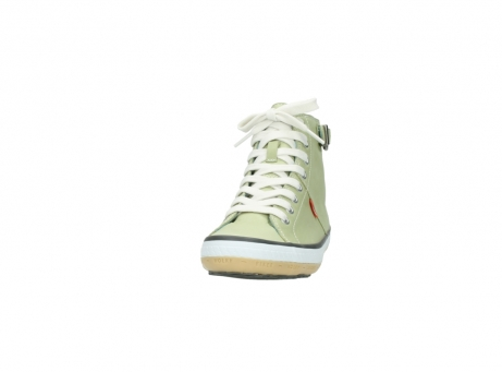 wolky lace up shoes 01225 biker 20700 light green leather_20