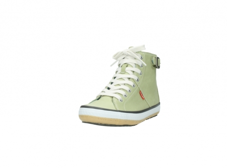 wolky lace up shoes 01225 biker 20700 light green leather_21