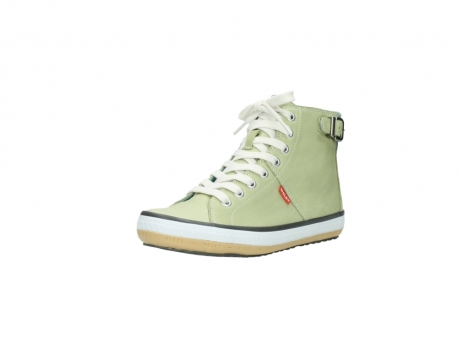 wolky lace up shoes 01225 biker 20700 light green leather_22
