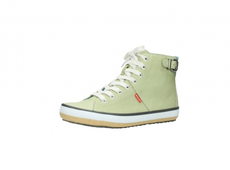 wolky lace up shoes 01225 biker 20700 light green leather_23