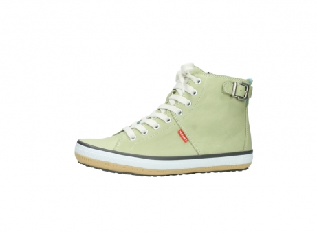 wolky lace up shoes 01225 biker 20700 light green leather_24