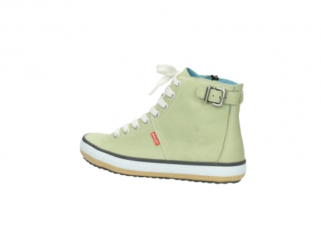 wolky lace up shoes 01225 biker 20700 light green leather_3