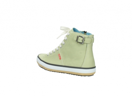wolky lace up shoes 01225 biker 20700 light green leather_4