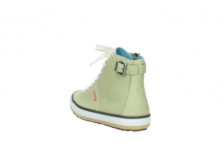 wolky lace up shoes 01225 biker 20700 light green leather_5