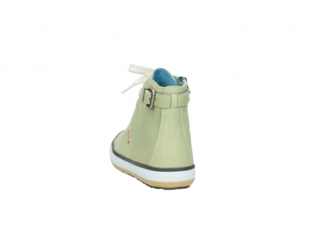 wolky lace up shoes 01225 biker 20700 light green leather_6