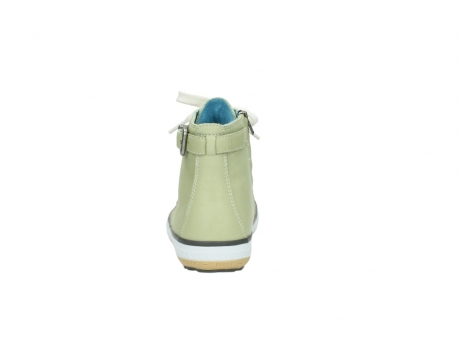 wolky lace up shoes 01225 biker 20700 light green leather_7