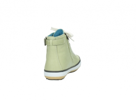wolky lace up shoes 01225 biker 20700 light green leather_8