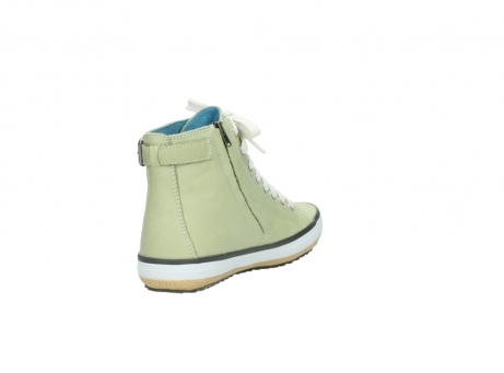 wolky lace up shoes 01225 biker 20700 light green leather_9