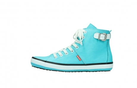 wolky lace up shoes 01225 biker 20760 turquoise leather_1