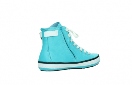 wolky lace up shoes 01225 biker 20760 turquoise leather_10