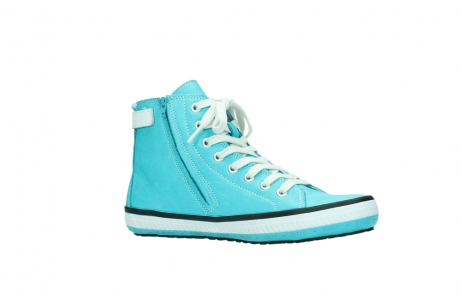 wolky lace up shoes 01225 biker 20760 turquoise leather_15