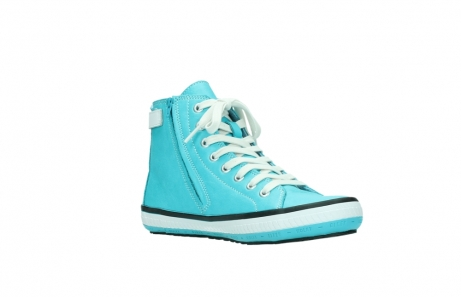 wolky lace up shoes 01225 biker 20760 turquoise leather_16