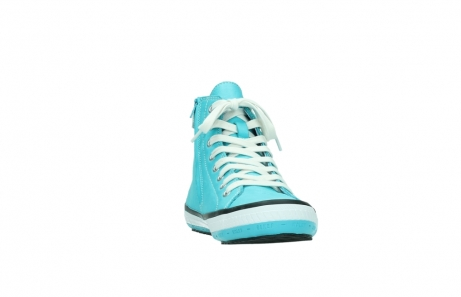 wolky lace up shoes 01225 biker 20760 turquoise leather_18