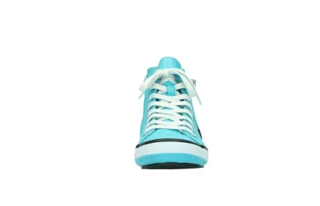 wolky lace up shoes 01225 biker 20760 turquoise leather_19