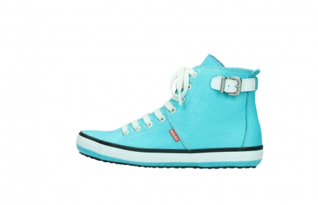 wolky lace up shoes 01225 biker 20760 turquoise leather_2