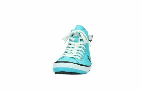 wolky lace up shoes 01225 biker 20760 turquoise leather_20