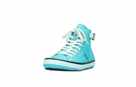 wolky lace up shoes 01225 biker 20760 turquoise leather_21