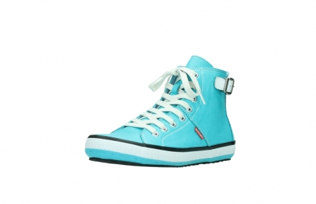 wolky lace up shoes 01225 biker 20760 turquoise leather_22