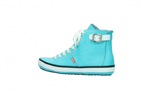 wolky lace up shoes 01225 biker 20760 turquoise leather_3