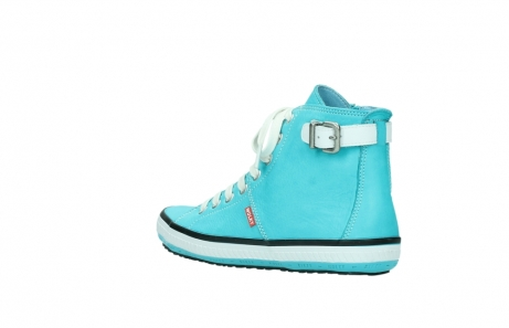 wolky lace up shoes 01225 biker 20760 turquoise leather_4