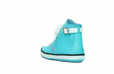 wolky lace up shoes 01225 biker 20760 turquoise leather_5