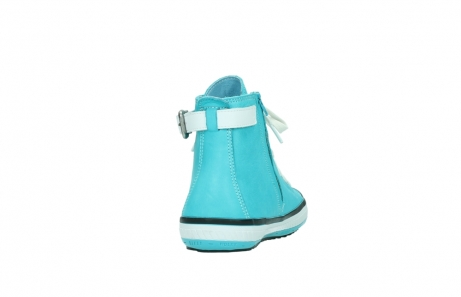 wolky lace up shoes 01225 biker 20760 turquoise leather_8