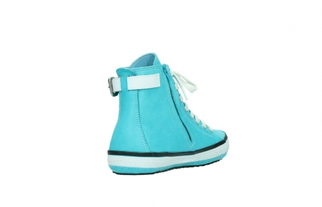 wolky lace up shoes 01225 biker 20760 turquoise leather_9