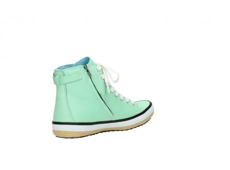 wolky lace up shoes 01225 biker 20790 mint green leather_10