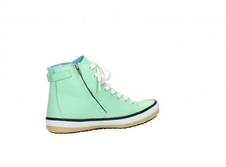 wolky lace up shoes 01225 biker 20790 mint green leather_11