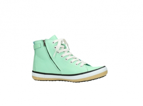 wolky lace up shoes 01225 biker 20790 mint green leather_14