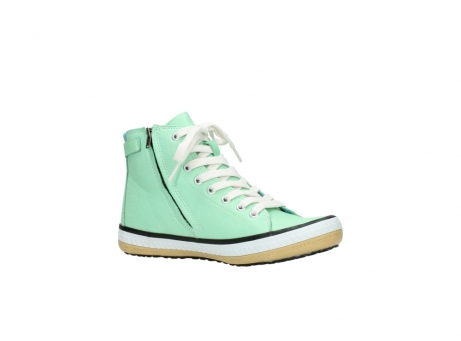wolky lace up shoes 01225 biker 20790 mint green leather_15