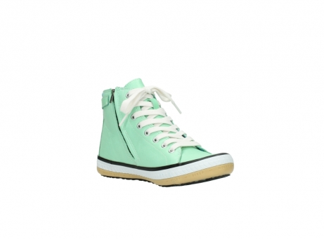 wolky lace up shoes 01225 biker 20790 mint green leather_16