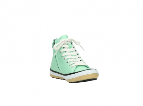 wolky lace up shoes 01225 biker 20790 mint green leather_17