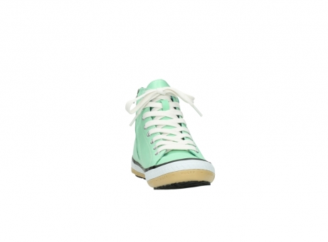 wolky lace up shoes 01225 biker 20790 mint green leather_18