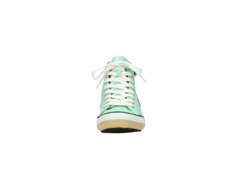 wolky lace up shoes 01225 biker 20790 mint green leather_19