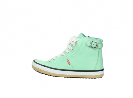 wolky lace up shoes 01225 biker 20790 mint green leather_2