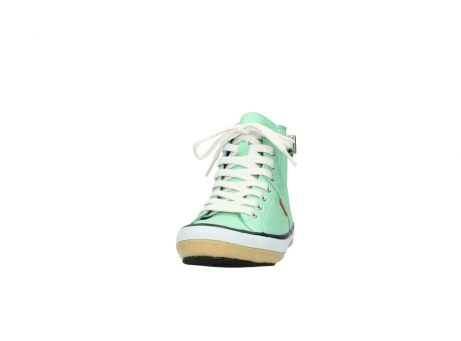 wolky lace up shoes 01225 biker 20790 mint green leather_20