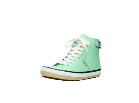 wolky lace up shoes 01225 biker 20790 mint green leather_22