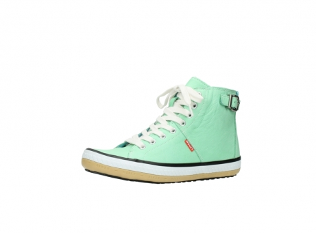 wolky lace up shoes 01225 biker 20790 mint green leather_23