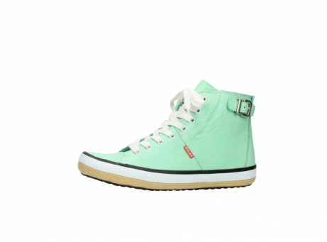 wolky lace up shoes 01225 biker 20790 mint green leather_24