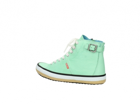 wolky lace up shoes 01225 biker 20790 mint green leather_3