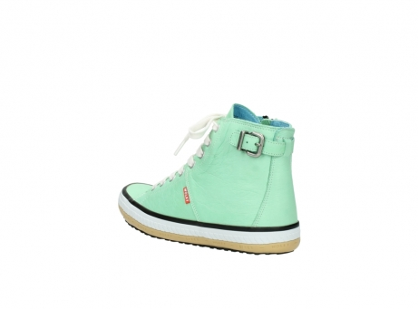 wolky lace up shoes 01225 biker 20790 mint green leather_4