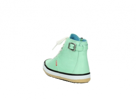 wolky lace up shoes 01225 biker 20790 mint green leather_5