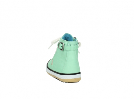 wolky lace up shoes 01225 biker 20790 mint green leather_6