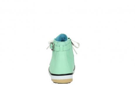 wolky lace up shoes 01225 biker 20790 mint green leather_7